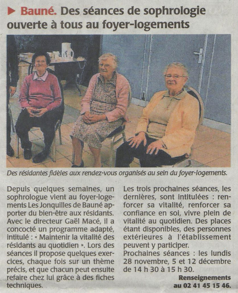 sophrologie oscilance anthony heurtin jonquilles baune foyer logement personnes agees residents mieux vieillir relaxation gym douce arthrose