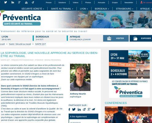 Angers interview Anthony Heurtin sophrologue sophrologie bien etre sante securite travail