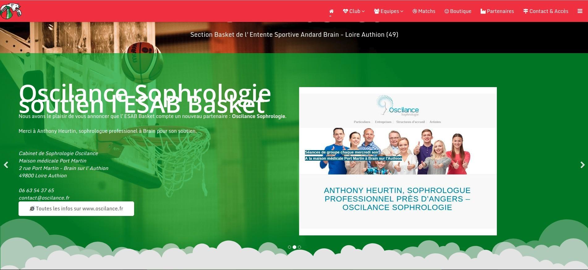Oscilance sophrologie partenaire Basket club brain authion sportif sport preparation mentale angers